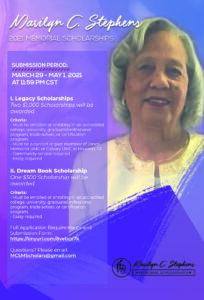 Marilyn Stephens Scholarship Flyer (FINAL)